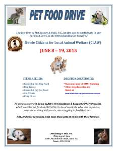2015 Pet Food Drive Flyer- FINAL